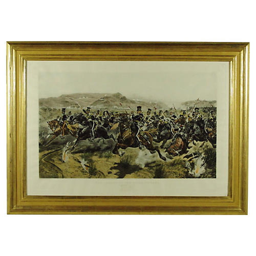 Charge of The Light Brigade Engraving