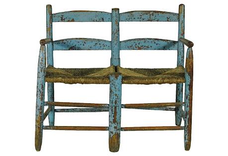 19th-C. Wagon Bench