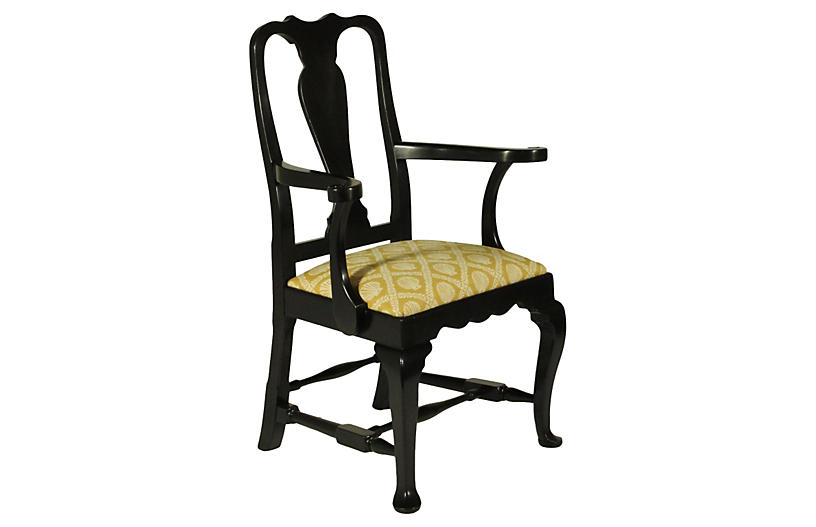 Black Lacquer Queen Anne Chairs S 8 Dining Chairs Dining Furniture O