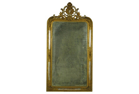 19th-C. Napoleon III  Pier Mirror