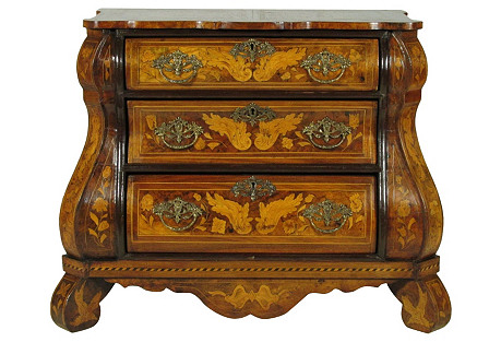 19th-C. Dutch Marquetry Chest