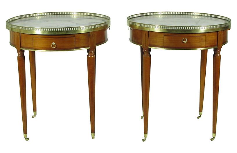 19th-C. Boulliotte Tables, Pair