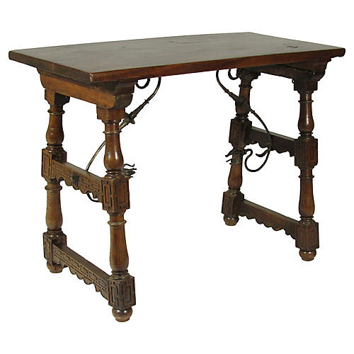 18th-C. Spanish Trestle Table