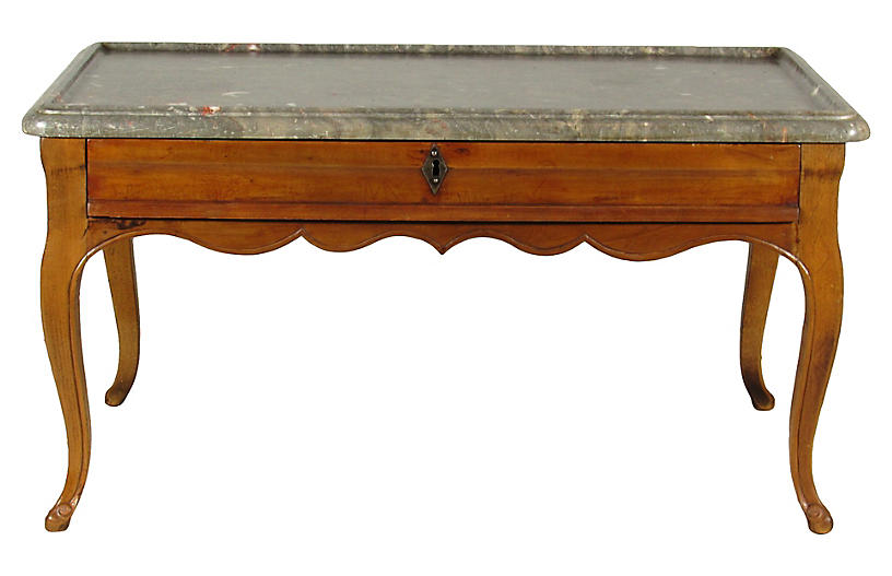 French Fruitwood Coffee Table The Barn At 17 Antiques Brands One Kings Lane