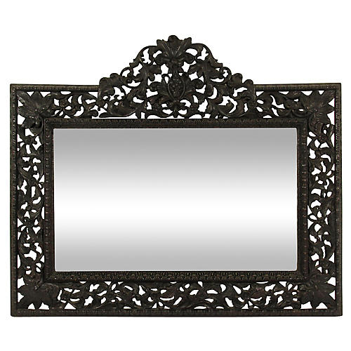 19th-C. Baroque-Style Carved Mirror