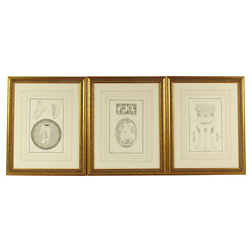 18th-C. Willemin Engravings, S/3