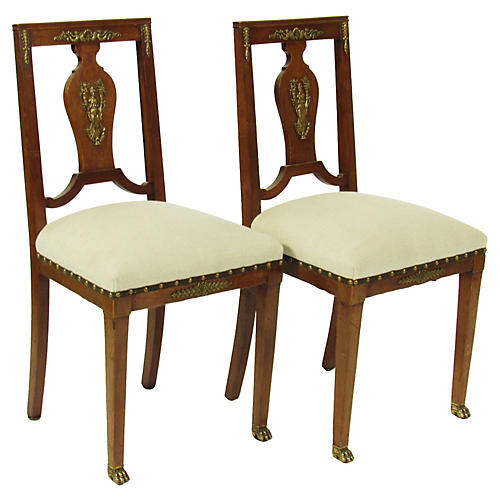 French Empire-Style Chairs, S/2