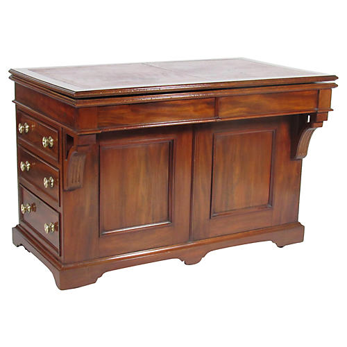 19th-C. English Architects Table/Desk