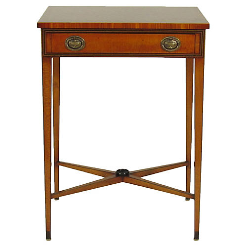 Georgian-Style Inlaid Side Table