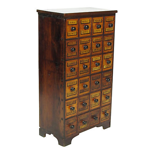 19th-C. English Apothacary Chest