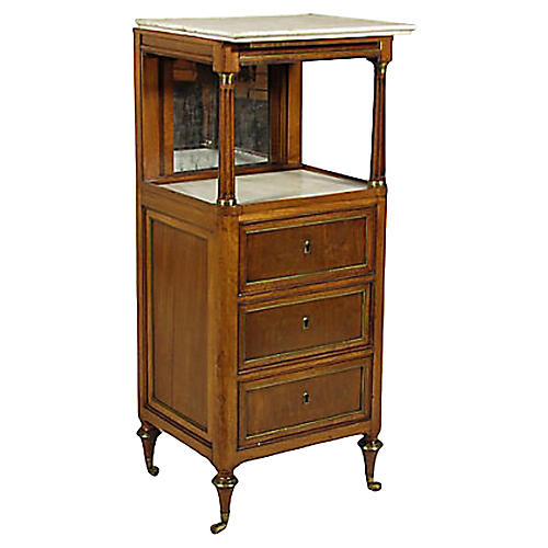 19th-C. French Shaving Stand