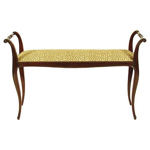 19th-C. French Bench