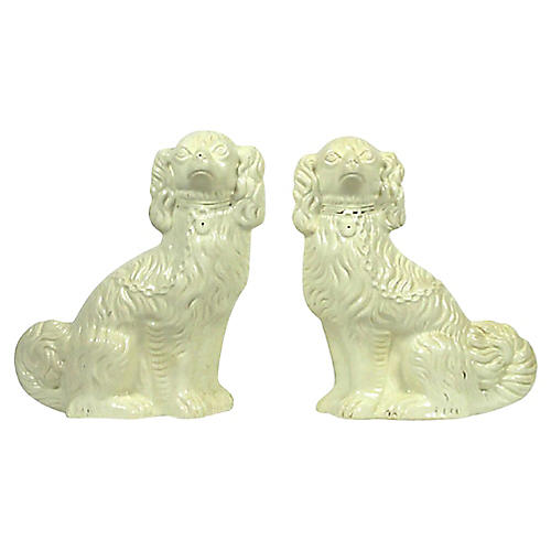 English Mantel Dogs, Pair