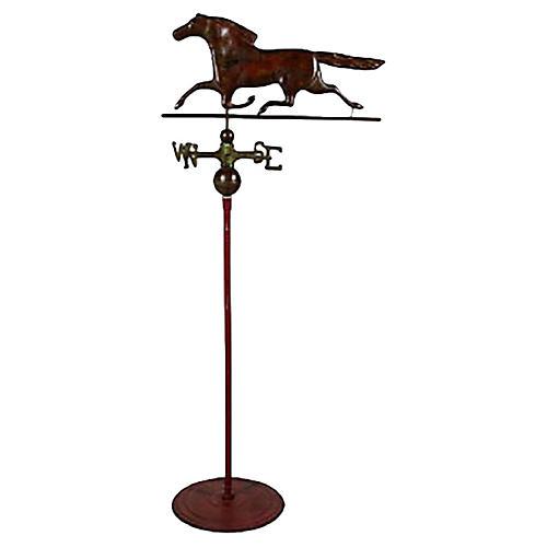 Running Horse Weathervane on Stand