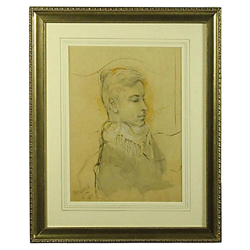 Original Drawing of a French Nobleman