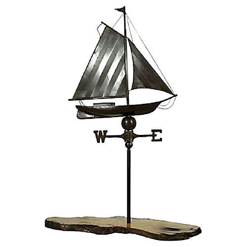 Ship Weathervane on Custom Base