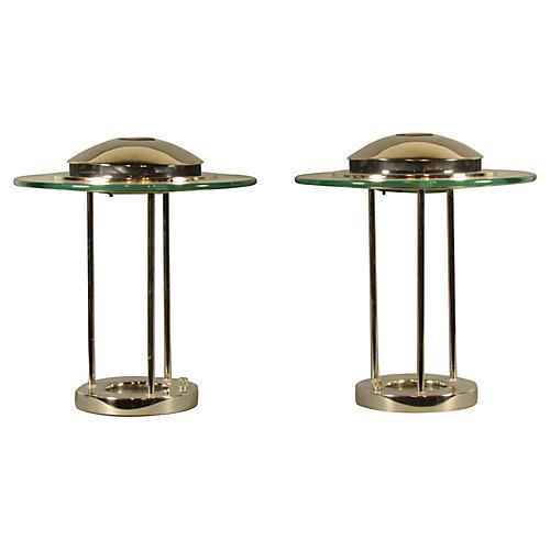 MId-Century Saturn Lamps, Pair