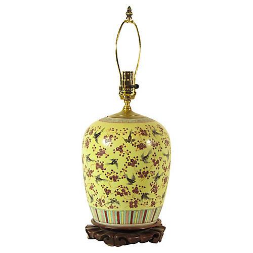 Chinese Famille Jaune Lamp