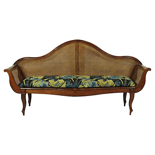 19th-C. Colonial Rosewood Settee