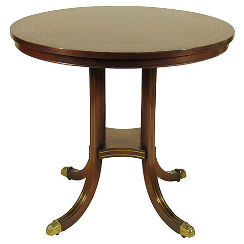 English Inlaid Rosewood Occasional Table