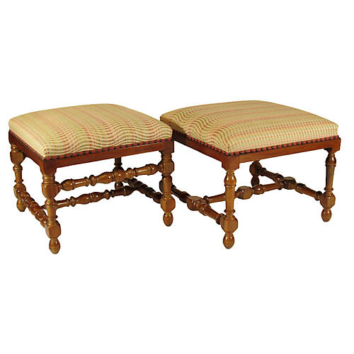 Baroque Style Benches, Pair