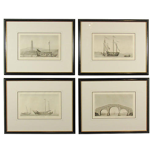 19th-C. Chinese Maritime Engravings
