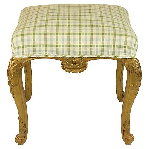 19th-C. French Gilt Bench Seat
