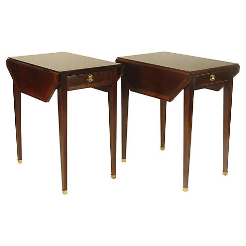 Inlaid Pembroke Tables by Baker, Pair