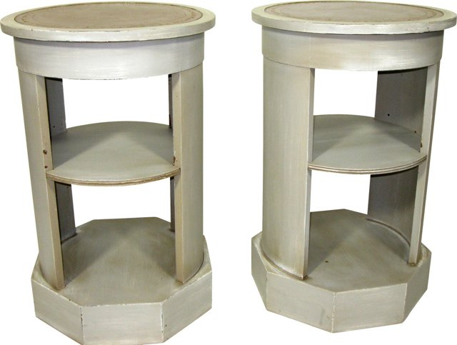 Neoclassical-Style End Tables, Pair