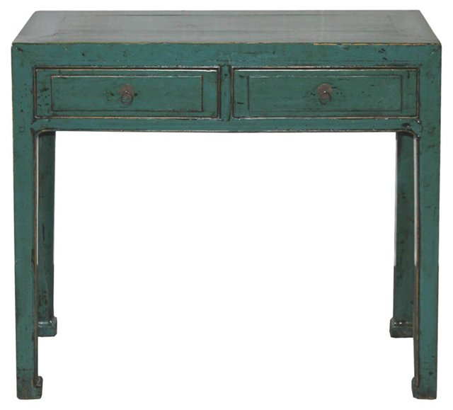 19th-C.  Chinese 2-Drawer Console