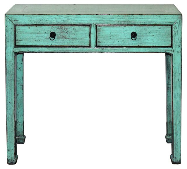 Chinese Light Blue Console