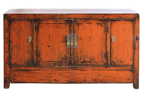 Orange Dongbei Sideboard