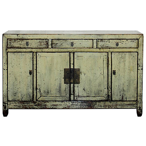 Aged Yellow Sideboard