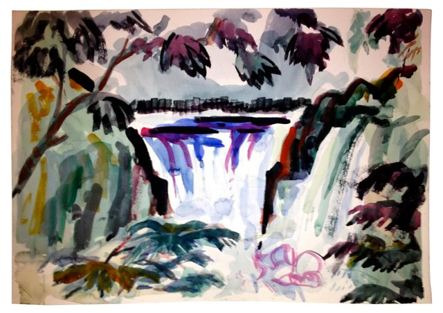Waterfall Watercolor (Two-Sided)