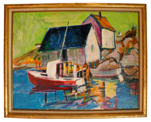 Vibrant Buildings & Boat
