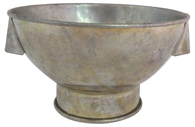 French Metal Footed Bowl