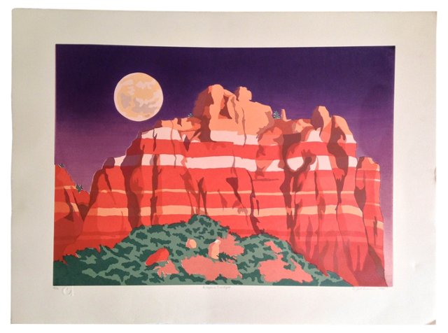 Arizona Twilight Serigraph