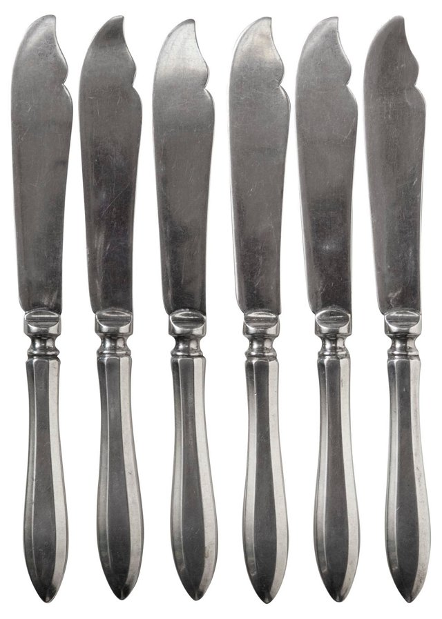 Hollow-Handled Fish Knives, S/6