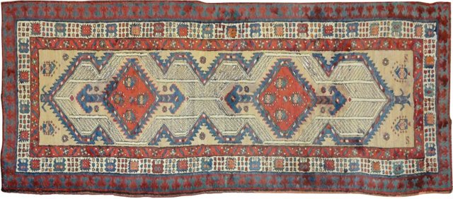 "Antique Serab Runner, 8'1"" x 3'3"""