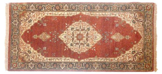 """Indian Tabriz-Style Rug, 4'3"""" x 2'3"""""""