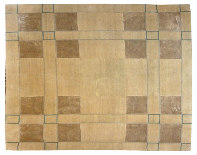 Square Nepalese Rug, 4' x 4'