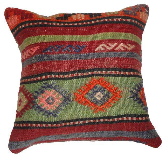 Pillow w/ Multicolor Kilim