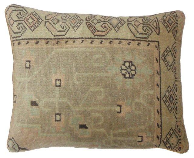 Brown Oushak  Fragment Pillow