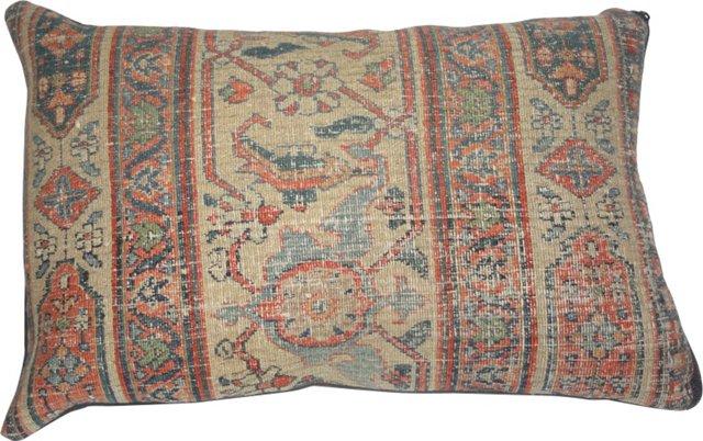 Pillow w/ Antique Rug in Beige