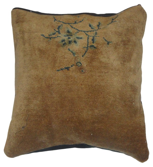 Pillow w/ Antique Camel Chinese   Rug