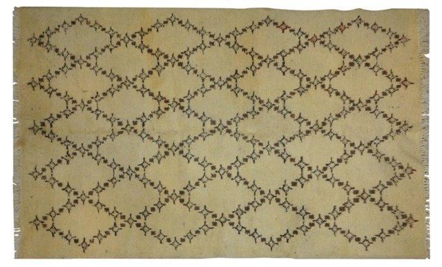 """Beige Moroccan Rug, 7' x 4'8"""""""
