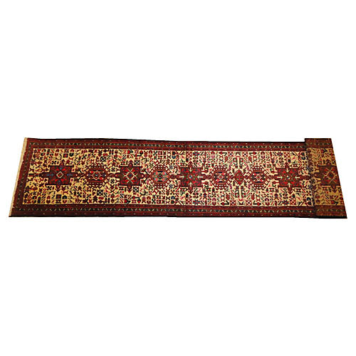 Persian Heriz Runner, 14' x 2'8""