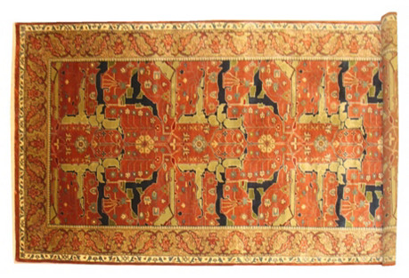 Bijar-Style Rug, 5'1