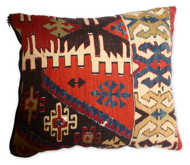 Pillow w/ Antique Turkish Kilim