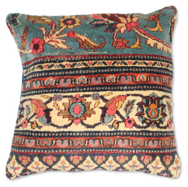Pillow w/  Blue Antique     Rug